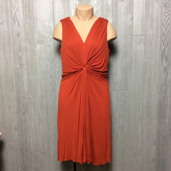 Crinkle Burnt Orange Dress PLUS SIZE